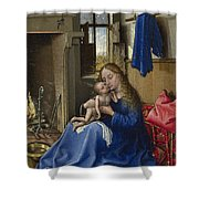 Virgin And Child In An Interior Shower Curtain