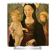 Virgin And Child With An Angel Shower Curtain