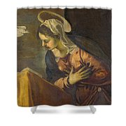 Virgin From The Annunciation To The Virgin Shower Curtain
