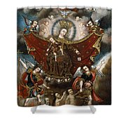 Virgin Of Carmel Saving Souls In Purgatory Shower Curtain