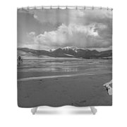 Visitors To The Sand Dunes Shower Curtain