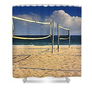 Volleyball Net Shower Curtain