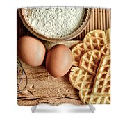 Waffles And Eggs Shower Curtain