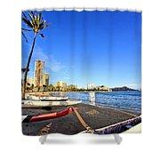 Waikiki Hawaii Shower Curtain