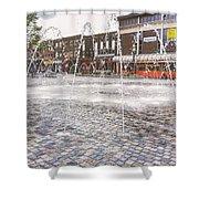 Wakefield City Centre Fountain Shower Curtain