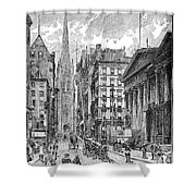 Wall Street, 1889 - To License For Professional Use Visit Granger.com Shower Curtain