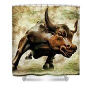 Wall Street Bull Vii Shower Curtain
