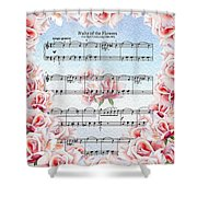 Waltz Of The Flowers Pink Roses Shower Curtain