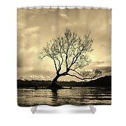Wanaka Tree - New Zealand Shower Curtain