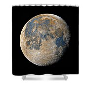 Waning Gibbous Moon / Day 18 Shower Curtain
