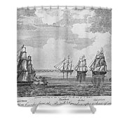 War Of 1812: Sea Battle Shower Curtain