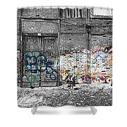 Warehouse In Lisbon Shower Curtain