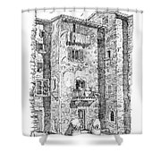 Wash Day In Montalcino Italy Shower Curtain