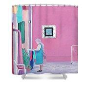 Washing Day, Burano, Venice Shower Curtain