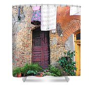 Washing Day Tuscany Shower Curtain