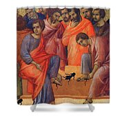 Washing Of Feet Fragment 1311  Shower Curtain