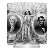 Washington And Lincoln Shower Curtain