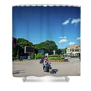 Wat Damnak Roundabout In Central Siem Reap City Cambodia Shower Curtain