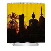 Wat Mahathat Shower Curtain