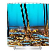 Water And Oil Shower Curtain by Setsiri Silapasuwanchai