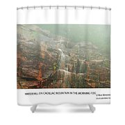 Water Fall On Cadillac Mountain Shower Curtain