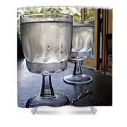 Water Glasses Sweating Shower Curtain