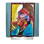 Water Healing Ceremonial Chief Yaz Shower Curtain