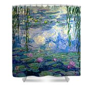 Water Lilies, Nympheas, By Claude Monet,  Musee Marmottan Monet, Shower Curtain