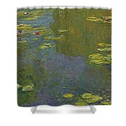 Water Lily Pond Shower Curtain