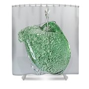 Water Splashing In A Wine Glass Shower Curtain