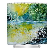 Watercolor  051108 Shower Curtain