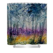 Watercolor  130608 Shower Curtain