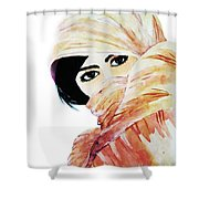 Watercolor Muslim Women Shower Curtain