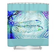 Watercolor Wings Shower Curtain