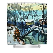 Watercolor3694 Shower Curtain