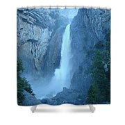 Waterfall In The Mountains Shower Curtain