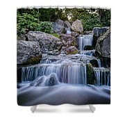 Waterfall Shower Curtain by Ivelin Donchev