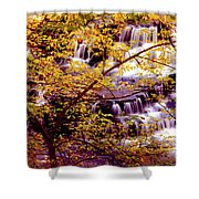 Waterfalls And Fall Colors Shower Curtain