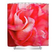 Waves Of Pink Shower Curtain