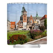Wawel Cathedral In Krakow Shower Curtain