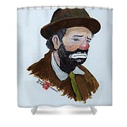 Weary Willie The Clown Shower Curtain