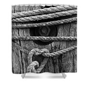 Weathered Rope Shower Curtain