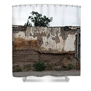 Weathered Window And Door Shower Curtain
