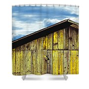 Weathered Wooden Barn, Gaviota, Santa Shower Curtain