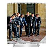 Wedding Men Shower Curtain