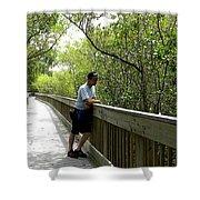 Weedon Island Boardwalk  Shower Curtain