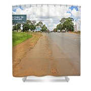 Welcome Sign To Lilongwe In Malawi. Shower Curtain