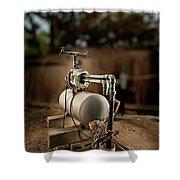 Well Pump Shower Curtain