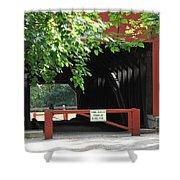 Wertz Red Covered Bridge Shower Curtain