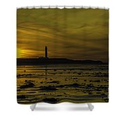 West Beach Sunset Shower Curtain